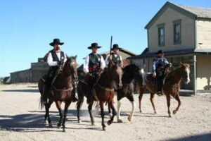 Horseback riding in Tombstone, AZ - Wyatt Earp's Vendetta Ride 2010 - 030