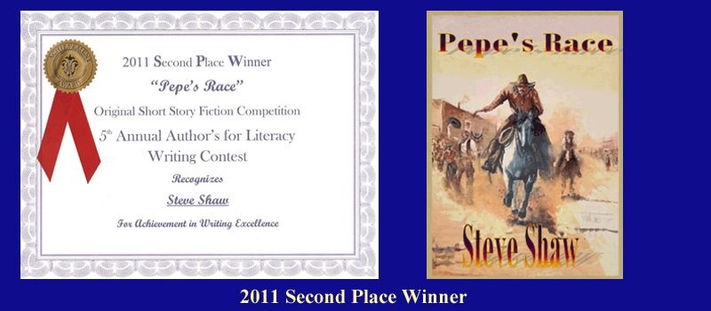 Steve Shaw-2011-Second-Place-Winner-Book-Awards